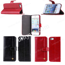 Top Quality Genuine Leather Flip Case Cover for iPhone 5/5s