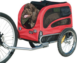 """pet bicycle trailer with 16""""rear wheel"""