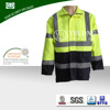 Safety waterproof high visibility winter coveralls with reflective tape
