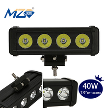 Wholesale New Products on China Market CREE LED Strip Light for Car Side Mirror 4 * 10W Jeep Customerized Headlight Bars
