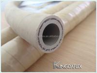 qingdao flexible white wrapped cover fiber braided rubber food grade hose