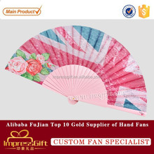 Elegant design advertising wooden hand folding fan