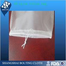 hot selling 210d nylon foldable mesh drawstring bag/ gift bags for liquid filter