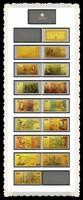 Complete Set Of 7 Banknote Set Finished 24k Gold Australia Album