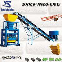 QT4-24 cement brick making machine cotton fabric manufacturers in tamil nadu manual hollow block making machine