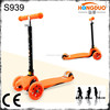 2015 new design 3 wheel colorful mini kid scooter for hot sale