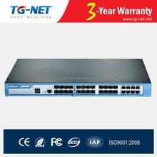 32 port ethernet switch Layer 2 +10G SFP+IPV6/V4 Static routing fiber optic ethernet switch
