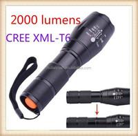 wholesale 2015ultrafire e17 1800 lumens zoomable cree xm-l t6 led flashlight/zoom flashlight