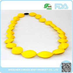 Food Grade Wholesale baby silicone teething beads necklace / silicone necklace teething