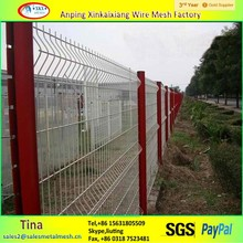 V folded Wire Mesh Fence, wire mesh fence in china, 3d wire mesh fence panel