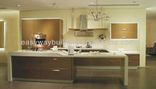 PVC Kitchen cabinets with high gloss
