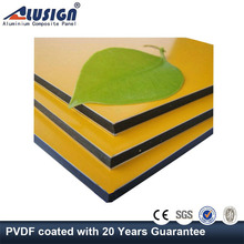 Alusign brushed finish aluminum composite panel(acp) for aluminum roof panel