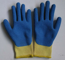 China manufacturer of latex rubber palm coated work safety gloves