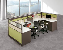 Factory customize office furniture, straight workstation,linear steel frame office partition (kl-WS017)