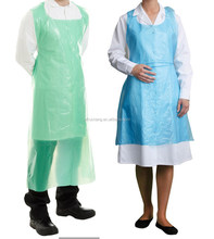 disposable plastic cheap chef kitchen waterproof aprons, widely used in restaurant