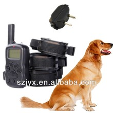 Remote Dog Training Collar With LCD Display 100 Level Electric Shock And Vibration And Tone