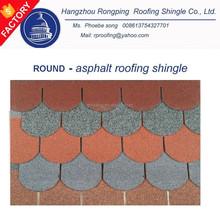 ROUND asphalt shingle roof , fiberglass shingle