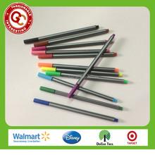 innovative design 12 pcs multi-colored fine line marker pen