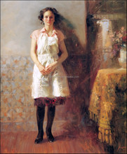 reproduction housewife portrait canvas art picture for wall decoration