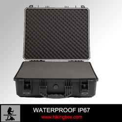 OEM!!! Factory price Hard Plastic Carrying Case waterproof &shockproof tool case with Foam insert HIKINGBOX HTC021-1
