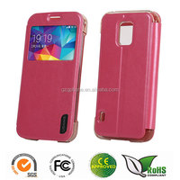 PU flip leather case for Samsung galaxy S5 active
