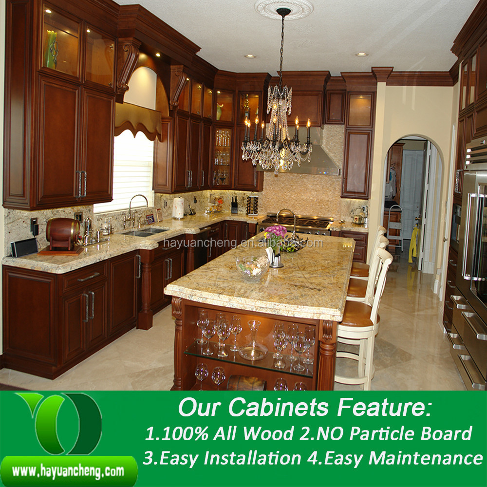 Newstar Modular Wooden Kitchen Cabinet With Granite Countertops - Buy ...
