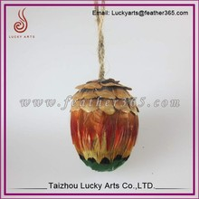 2015 Taizhou lucky arts new design 8cm decoration wire feather egg