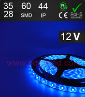 FL3528 60SMD blue color IP65 waterproof 5050 smd led strip light