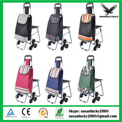 Folding Shopping trolley Cart, foldable vegetable shopping trolley bag