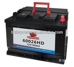 60032 DIN Standard 12v95ah car battery volta batteries