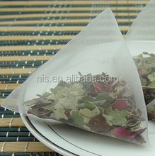 OEM Pyramid teabag with private label four corner nylon teabags