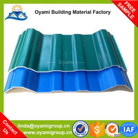 Soundproof wholesale sheet pvc corrugated plastic roofing tiles for industrial warehosue