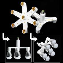 E27/B22 Socket Splitter Adaptor 1 Change into 4/7 E27 Base Type LED Bulb Adaptor