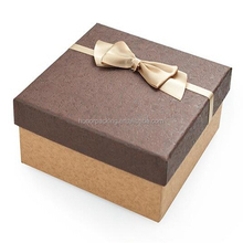 custom popular wooden gift box for perfume jewelry packaging with bowknot decoration wholesale