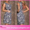 venta al por mayor sexy estampado de leopardo azul vintage vestidos de fiesta de quince años