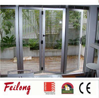 Aluminum frame glass folding door With AS2047 in Australia & NZ