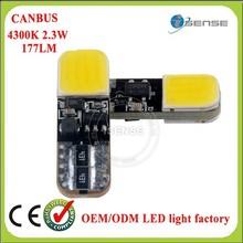 Long life time cheap 12v 2w japannese tube t10 led bulb 6500K W/B/R/Y/G available car cob led