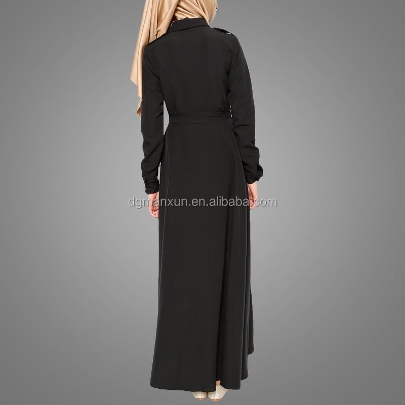 Fashion dubai black abaya new models sexy saudi girls image buttons abaya no see through muslim dre (6).jpg