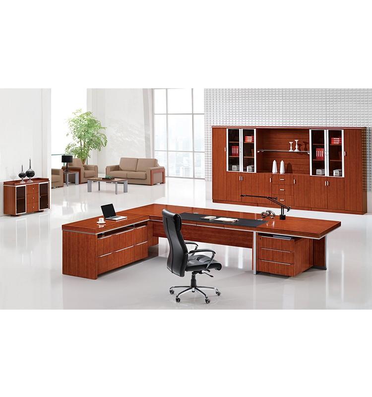 Muebles Alta Gama : De gama alta muebles madera en forma l escritorio