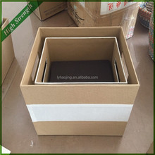 linyi wicker factory directly warp and weft paper basket with non-woven fabric liner