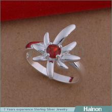 2015 argento delicati progettazione di impianti mapple forma le donne dita anello di diamanti