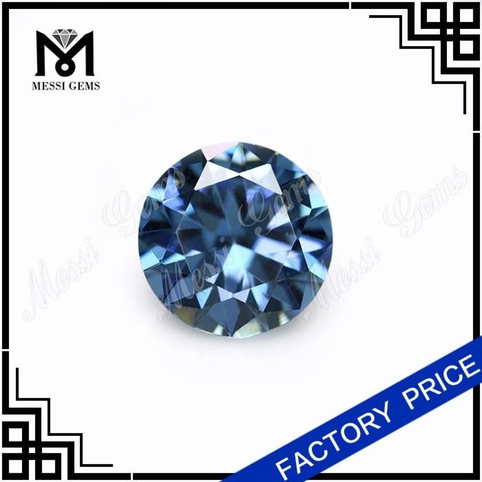 Ювелирные изделия грановитая круглый 10.0 мм голубой топаз кристалл CZ бусины
