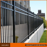 Cheap decorative steel garden fence panels