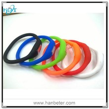 Negative ion silicone wristband watches men with popular promotional gifts
