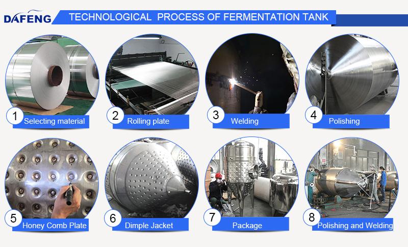 2000L glycol jacket conical fermenter