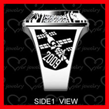 Hot selling stainless steel class ring/school ring/university ring for students graduation