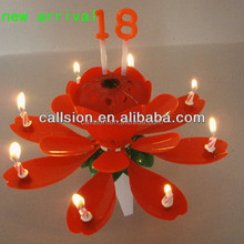 special birthday firework candle flower music box packing