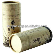 Custom recycled material and food industrial use paper tea box, tea tube, tea tin