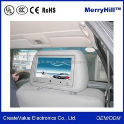 SD USB Headrest Screen 7 Inch 9 Inch 10 Inch Car TFT LCD Monitor