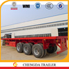 Hot selling low price 3 axle 40ton flatbed truck trailer